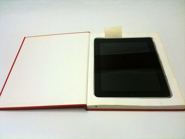 Diy Book Cover For Tablet : How to make an ipad booksafe case