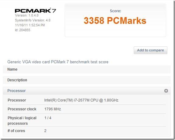 PCMark7 - mains performance mode