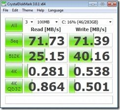 CrystalDiskMark HDD mains power