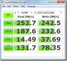 Series 5 128GB SSD Crystaldiskmarl