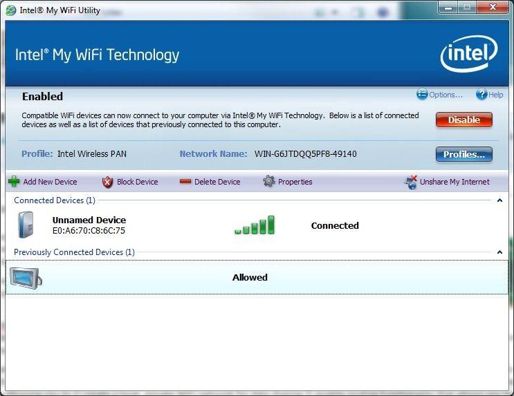 How-To: Intel My WiFi / WiFi Direct on an Ultrabook