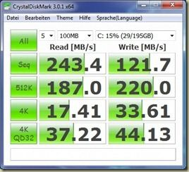 CrystalDiskMark 3.01 high performance mains