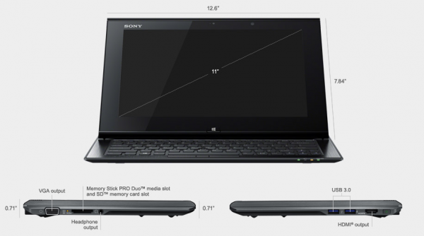 sony vaio duo 11 windows 8 ultrabook