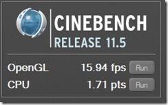 Cinebench CPU GPU battery balanced