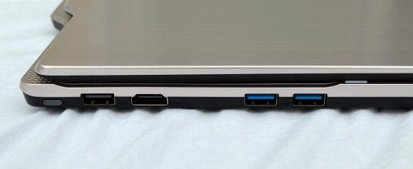 Left: USB 2.0, full HDMI, USB 3.0, USB 3.0
