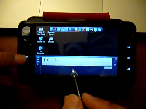 Viliv S5 with Windows XP Tablet Edition [video]