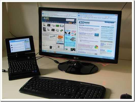 Loox U with desktop screen