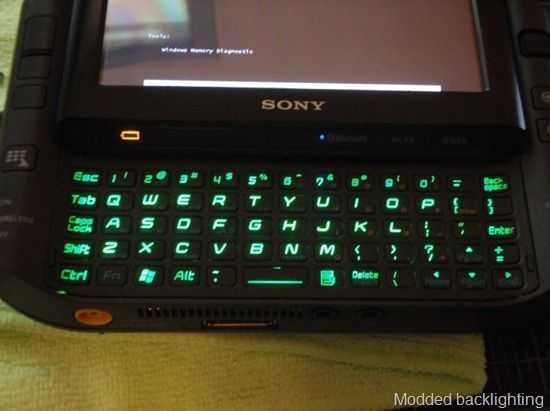 ux490 green led keyboard