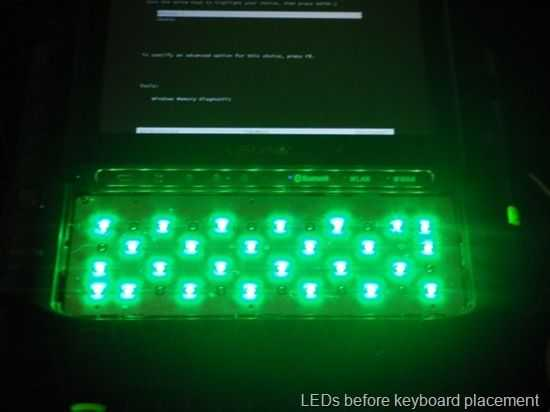 ux490 green leds bare