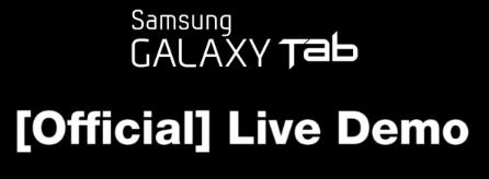 galaxy tab demo