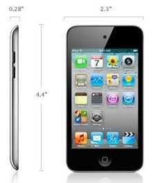 ipod touch size