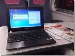 Samsung N350 on Train