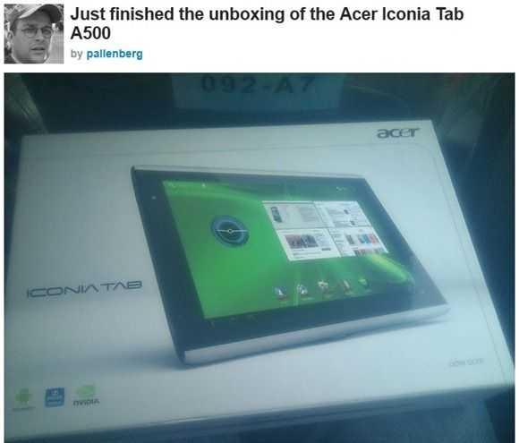 iconia tab unbox