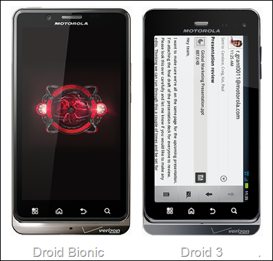 droid 3 and driod bionic