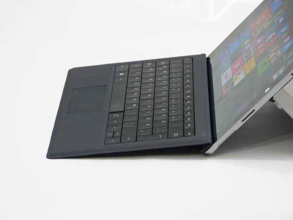 Surface Pro 3 and Type Cover keyboard accessory.