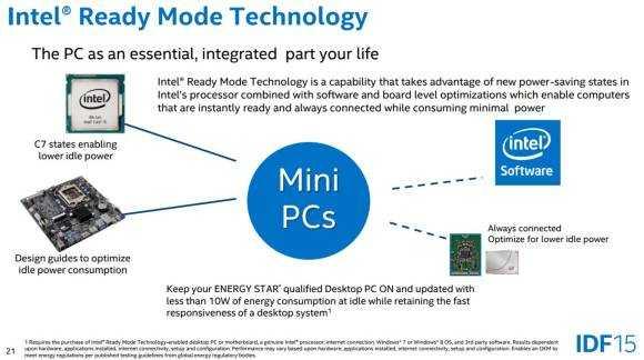 Intel Ready Mode