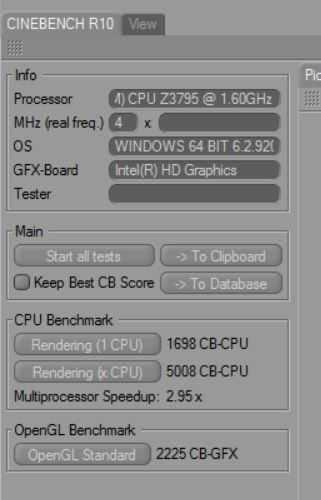 Cinebench R10 64-bit results are impressive.