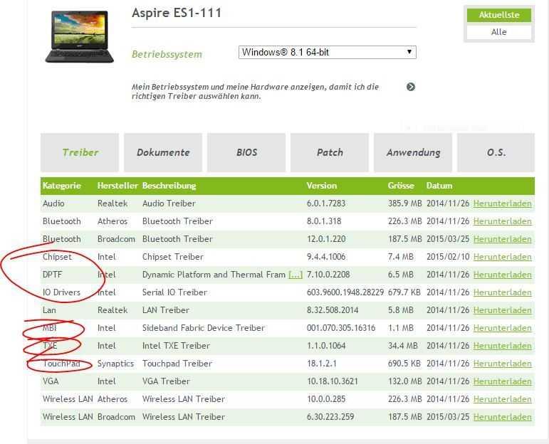 Acer aspire es1 111 e11 windows 10 install build 10130 drivers