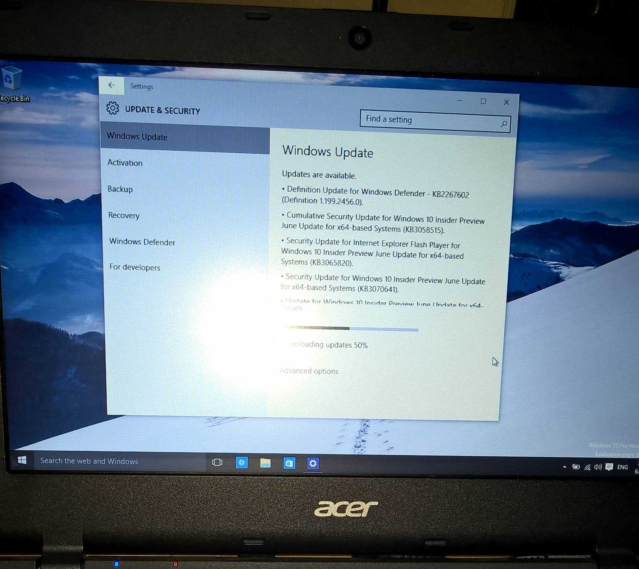 Acer Aspire E11 - Windows 10 drivers and touchpad updates