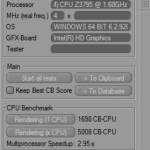 Cinebench only multi cpu caused occasional throttling