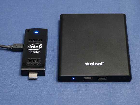 Intel Compute Stick and Ainol Mini PC. Same CPU, different markets.