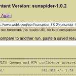 Sunspider 1.0.2 IE desktop