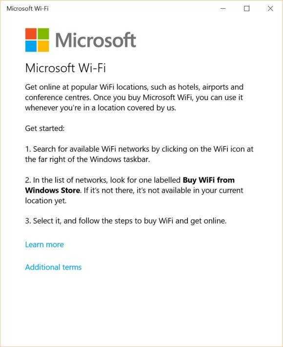 Microsoft WiFi app