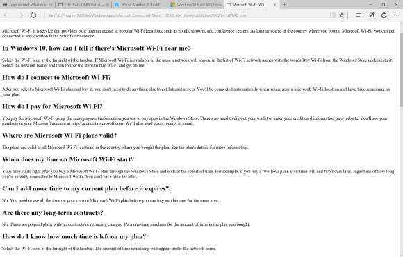 Microsoft WiFi FAQ