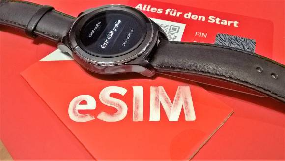 Vodafone eSIM and Galaxy Gear S2 Classic 3G.